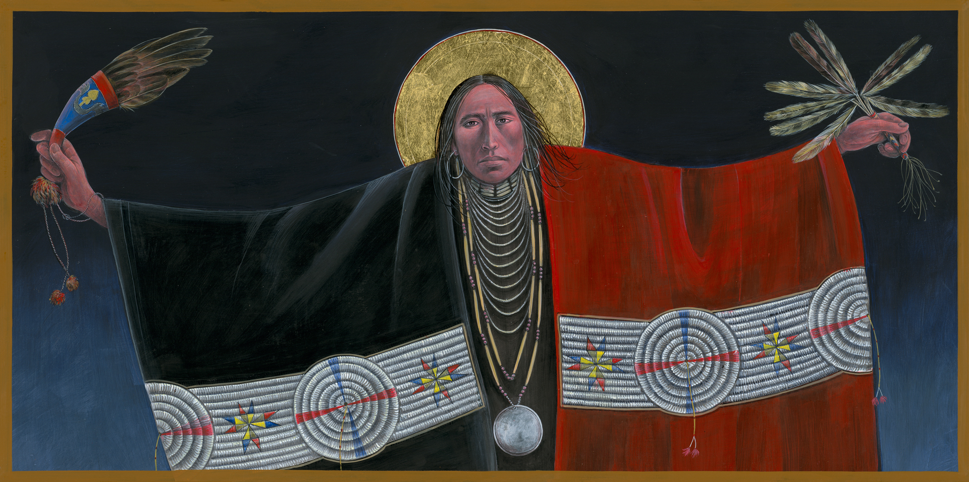 Lakota Annunciation Native American Art by Fr. John Giuliani