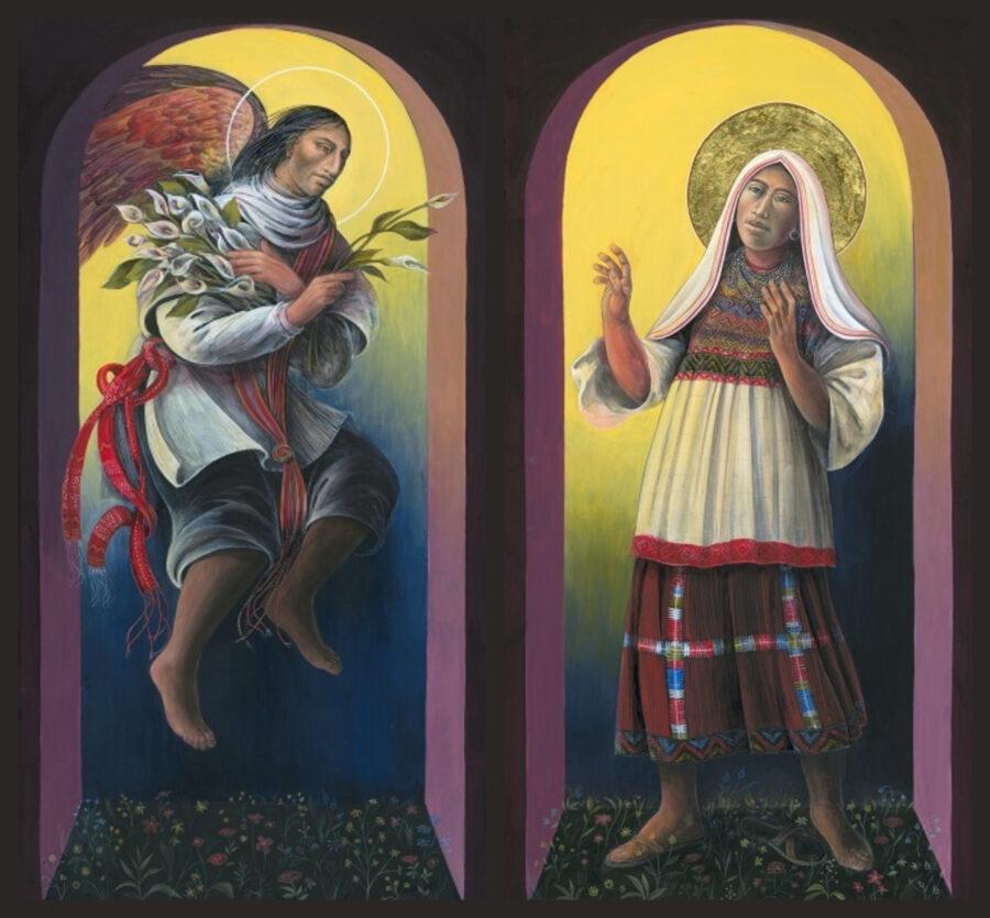 Guatemalan Annunciation Diptych Sacred Art by Rev. Fr. John B. Giuliani