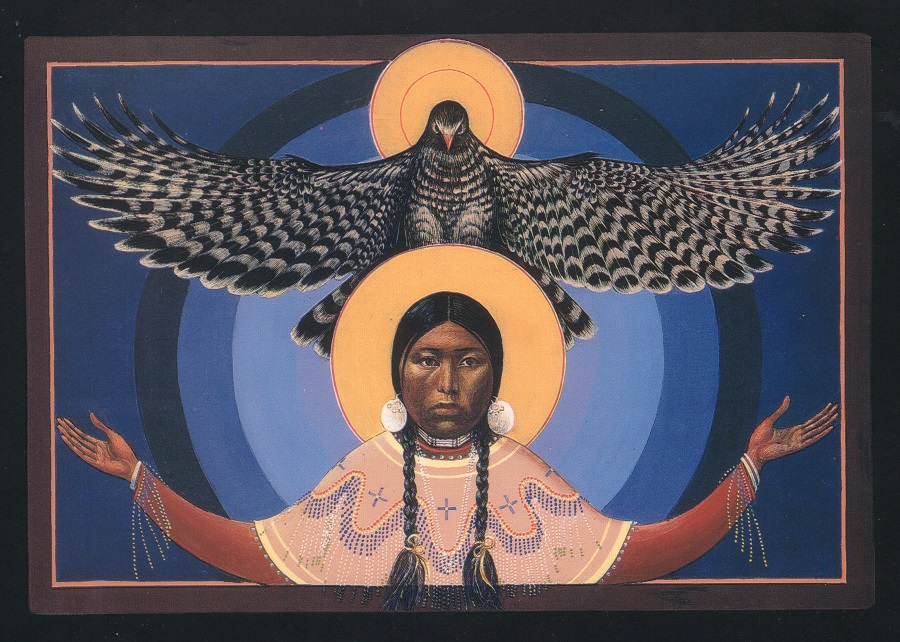 Lakota Annunciation I Sacred Art by Fr. John B. Giuliani