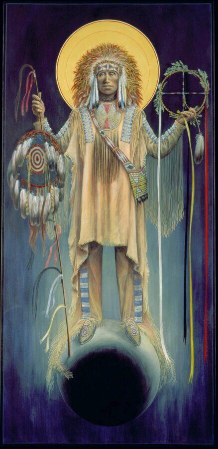 Lakota Michael the Warrior #14 Sacred Art by Fr. John B. Giuliani