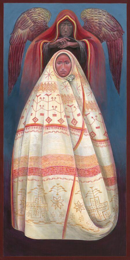 Miꞌkmaq Annunciation #13 Sacred Art by Fr. John B. Giuliani